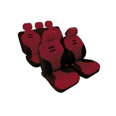 54901 KYNOX:CAR SEAT COVER SET_WINE RED