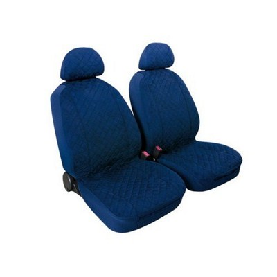 MIKY:PAIR OF HIGH-QUALITY MICROFIBRE FRONT SEAT COVERS_DARK BLUE